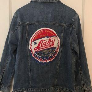 NWT Totally Lucky Patch Boyfriend Trucker Jacket